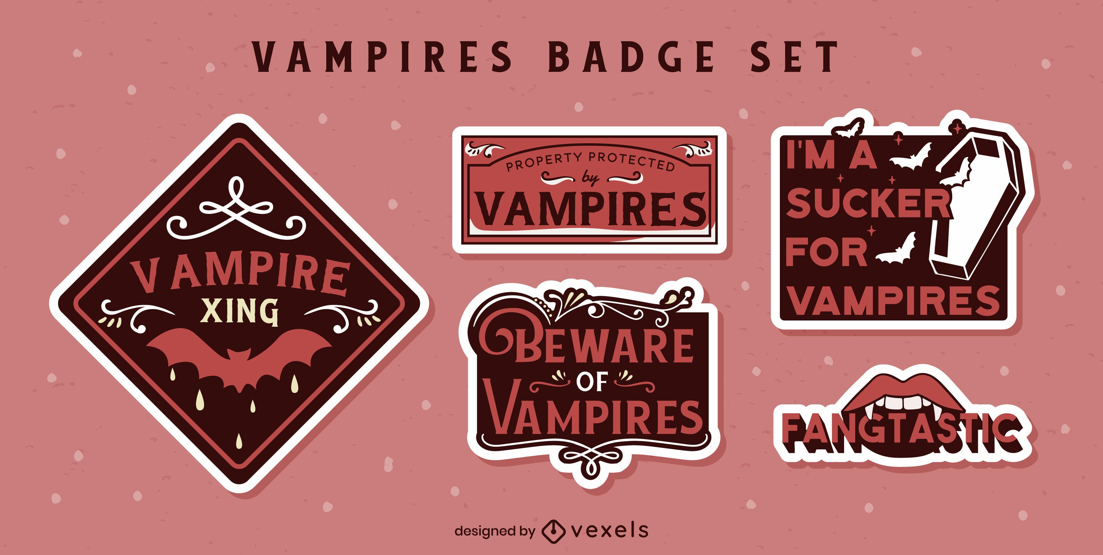 Vampires quotes stickers set