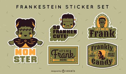 Frankenstein cute stickers set