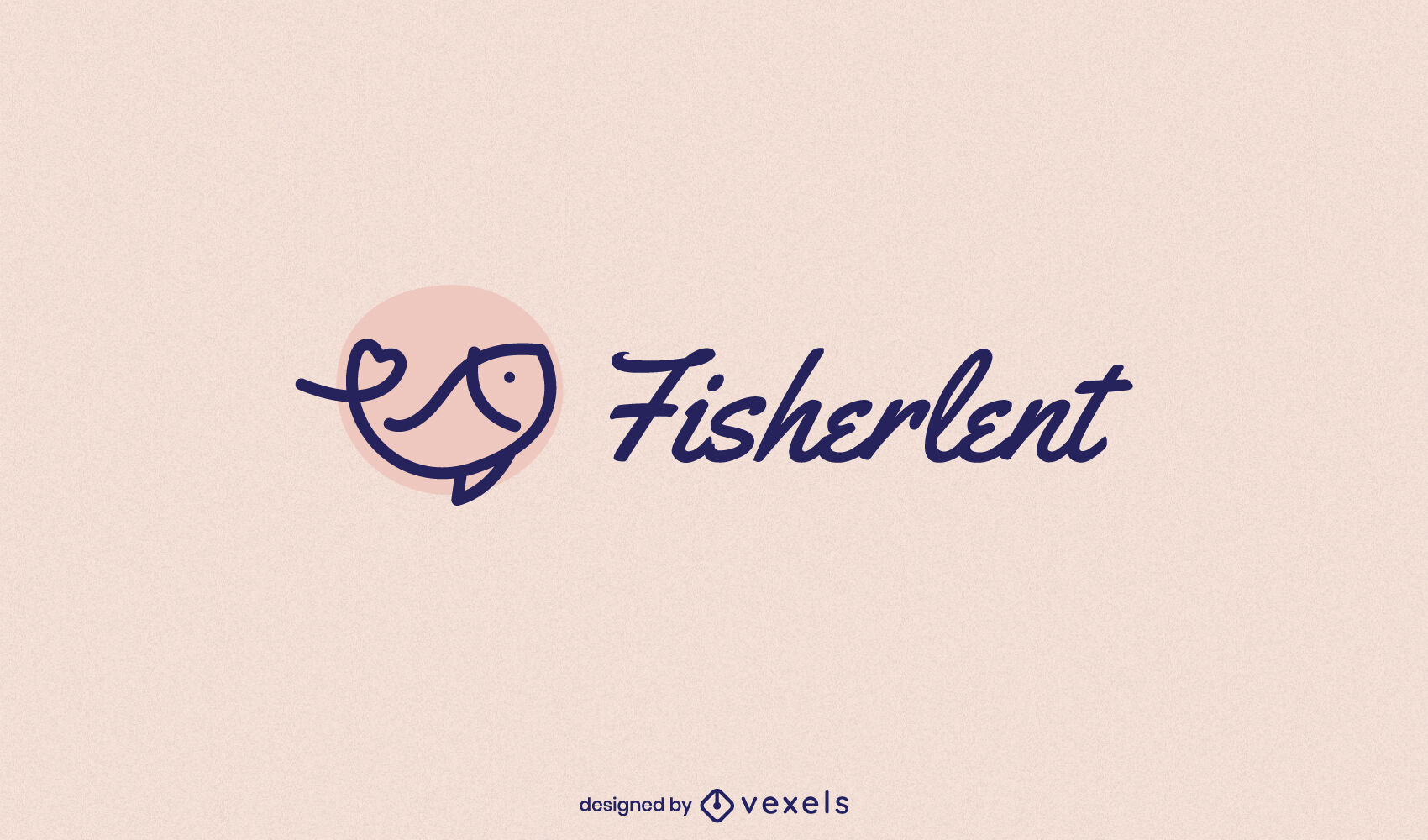 Fish swimming stroke logo template