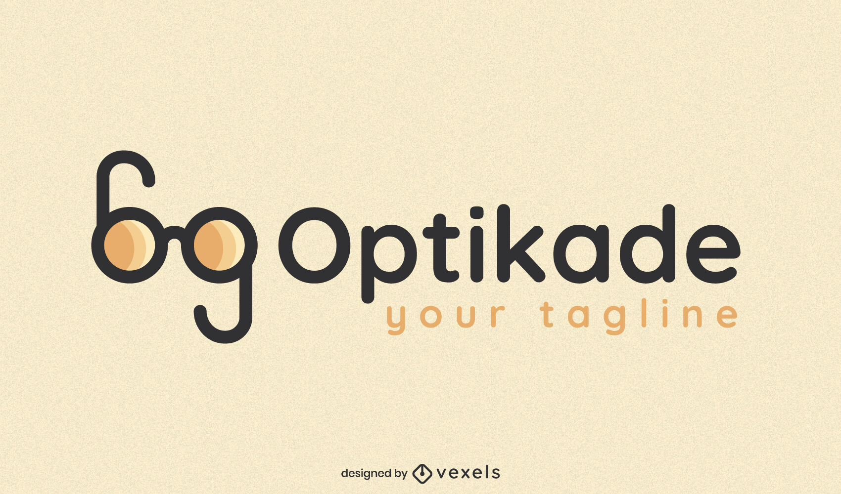Double glasses business logo template