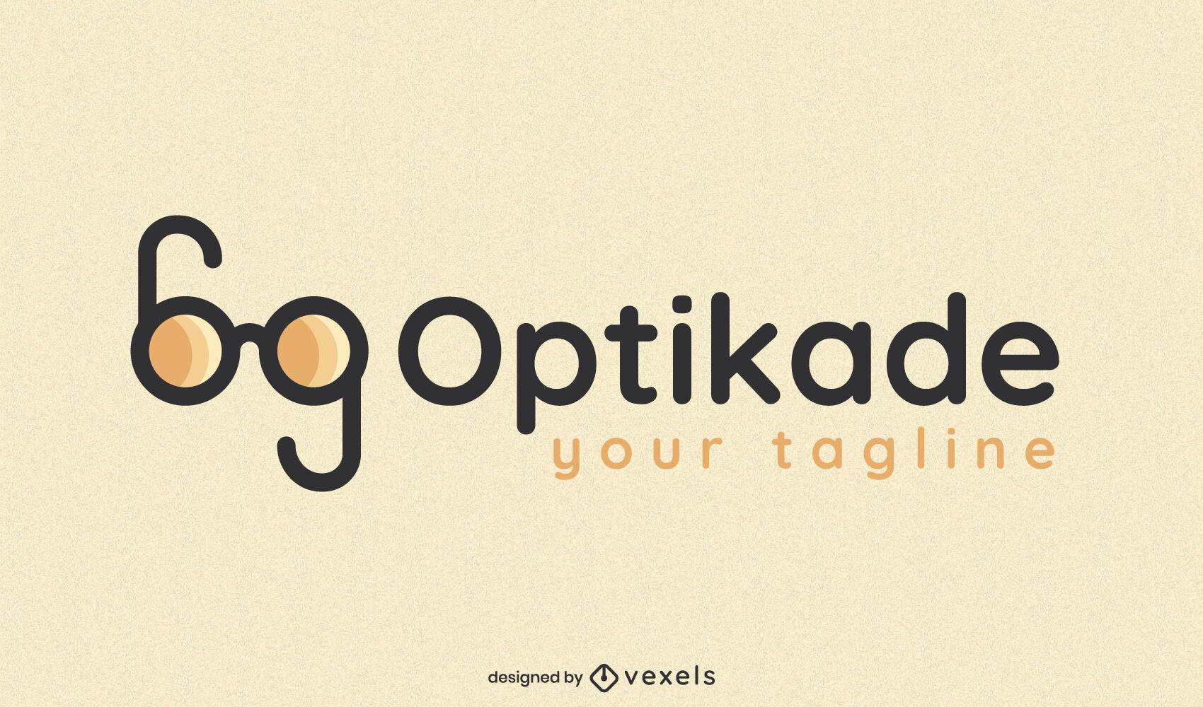 Plantilla de logotipo de empresa de gafas dobles