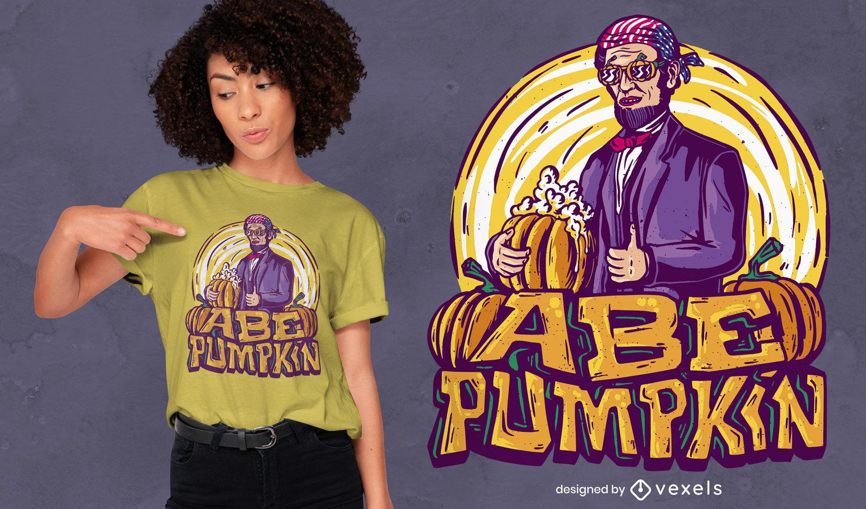 Halloween Lincoln pumpkin t-shirt design