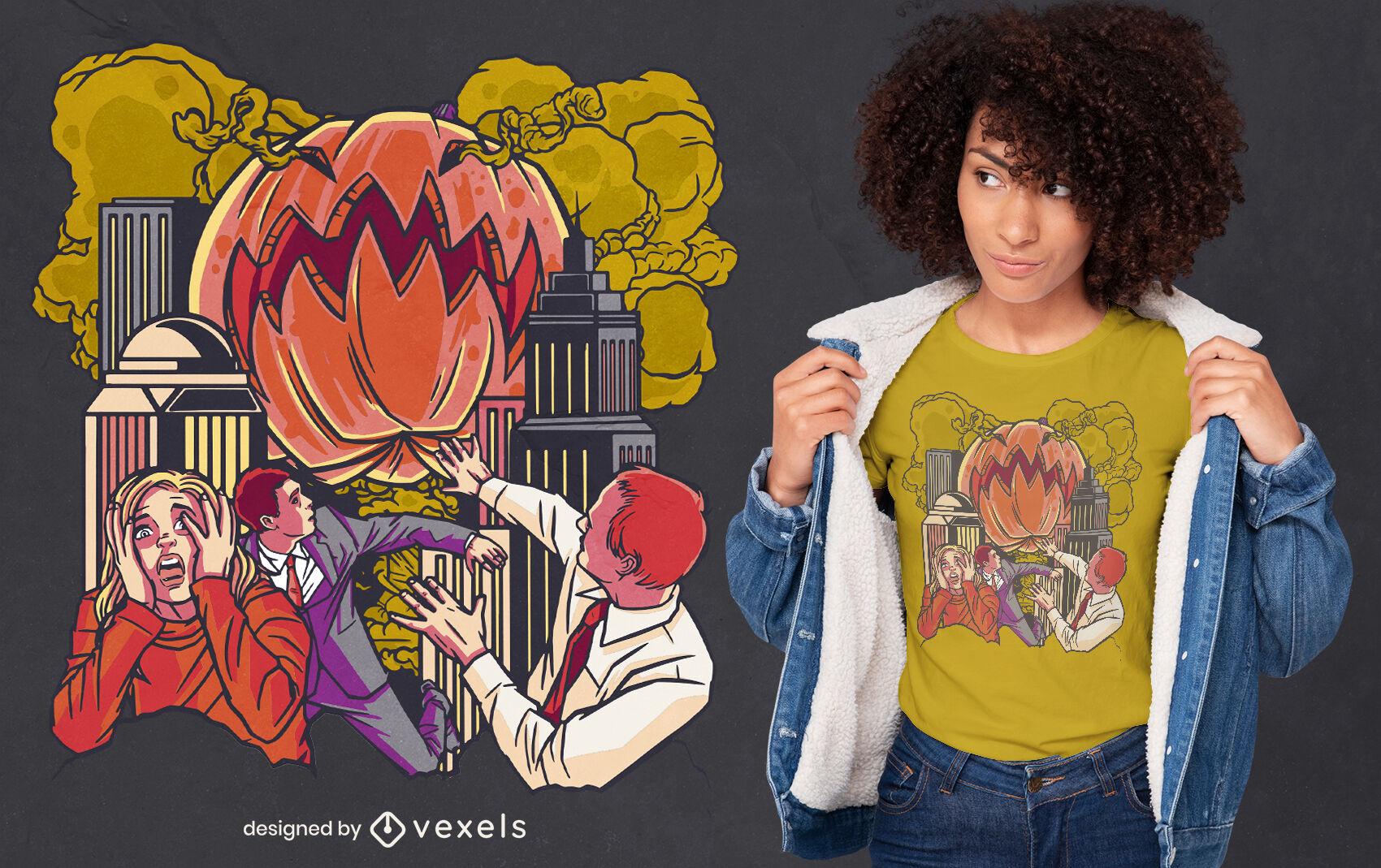 Design legal de t-shirt do monstro da abóbora