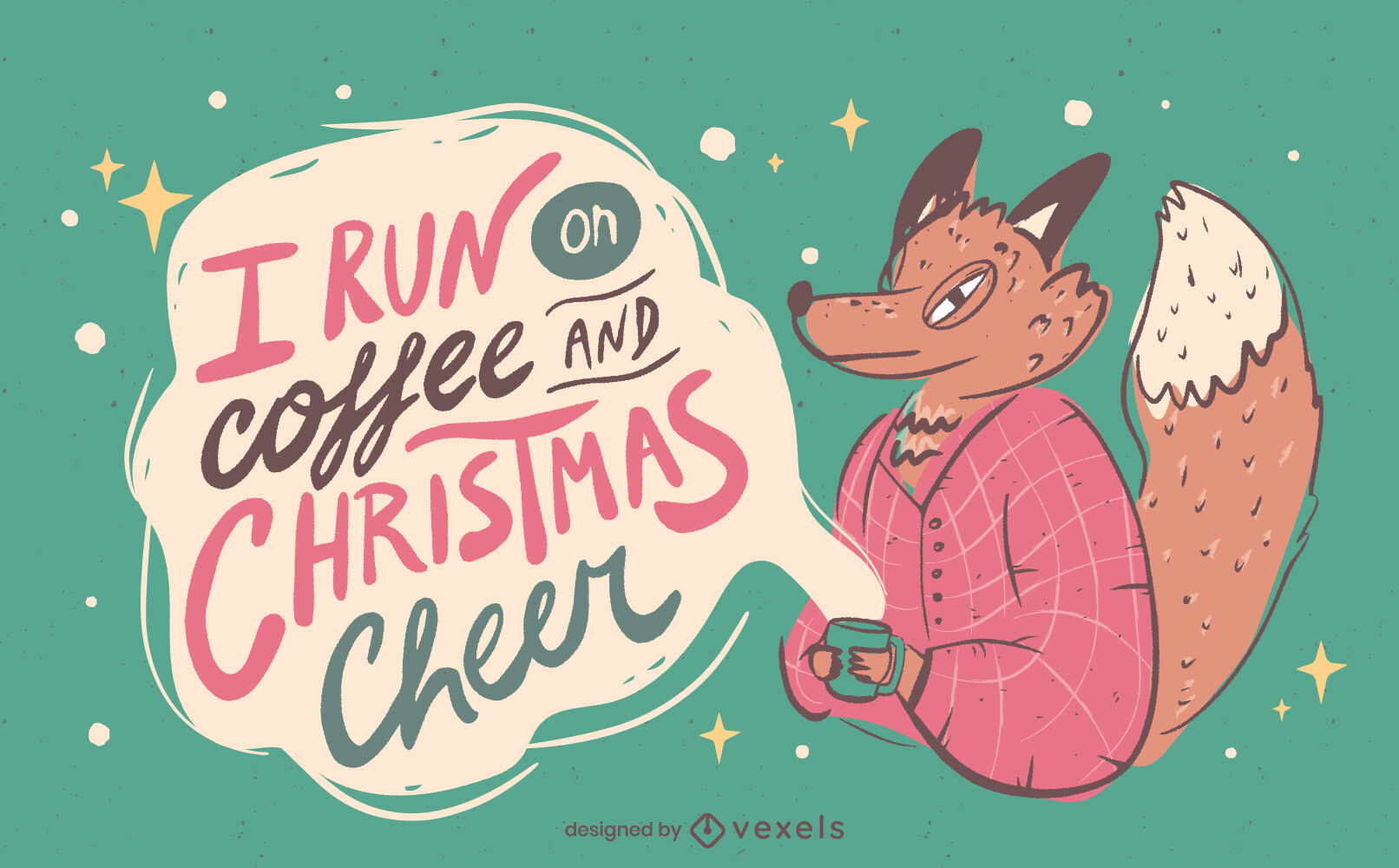 Anti christmas funny quote illustration