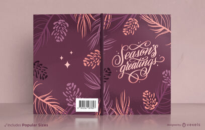 Leaves and plants nature book cover design