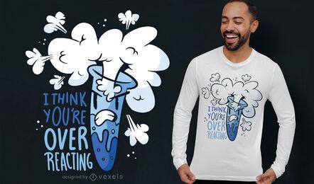 Diseño de camiseta de química divertida de tubo de ensayo azul