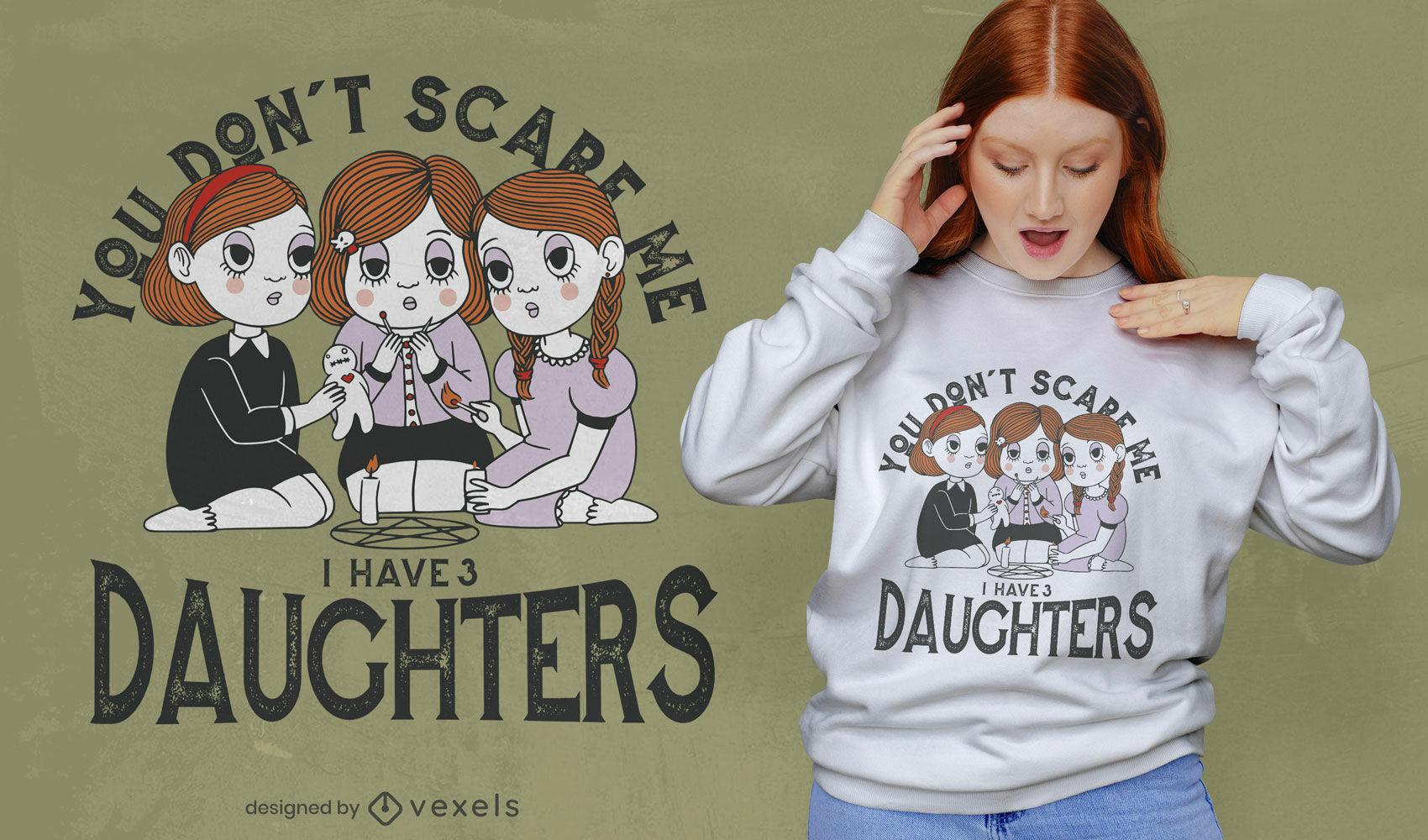 Gruselige Mädchen zitieren T-Shirt-Design