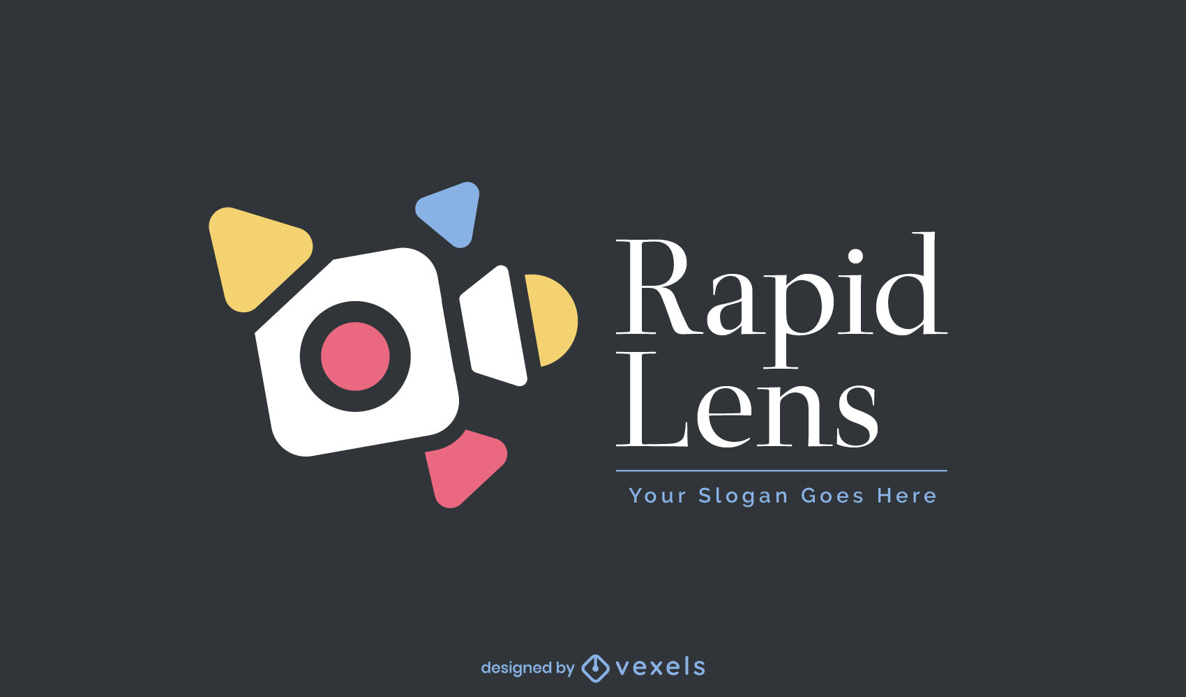 Video camera business logo template