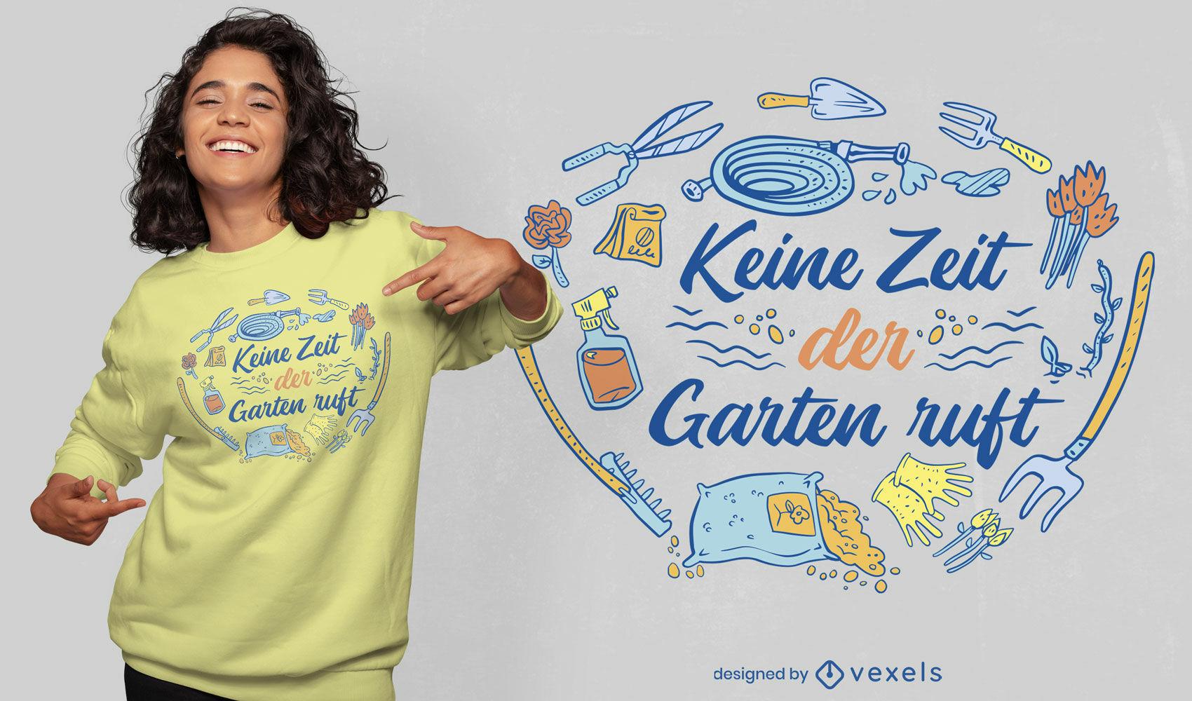 Cool gardening german t-shirt design