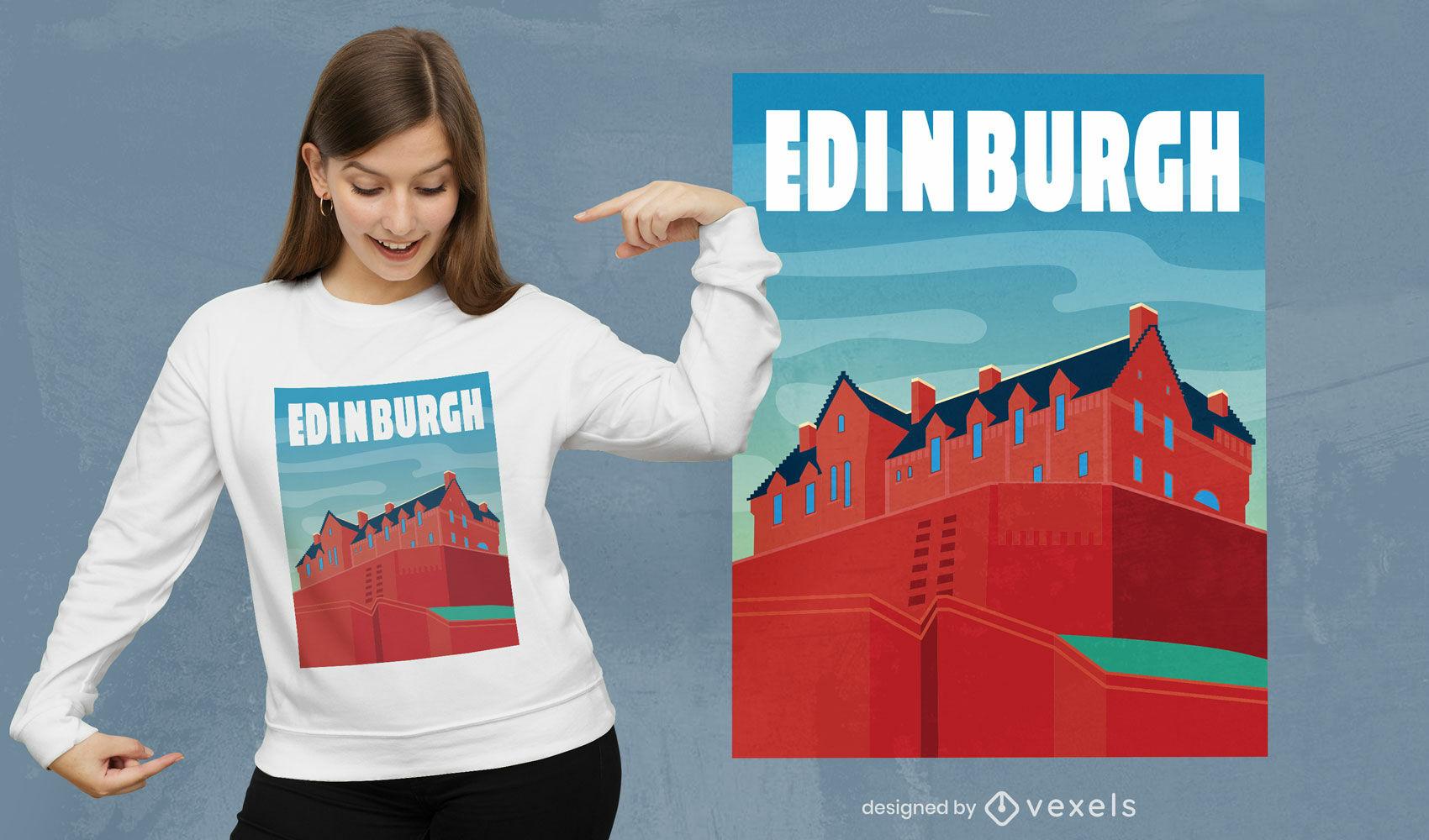 Paisagem semi-plana urbana de Edimburgo