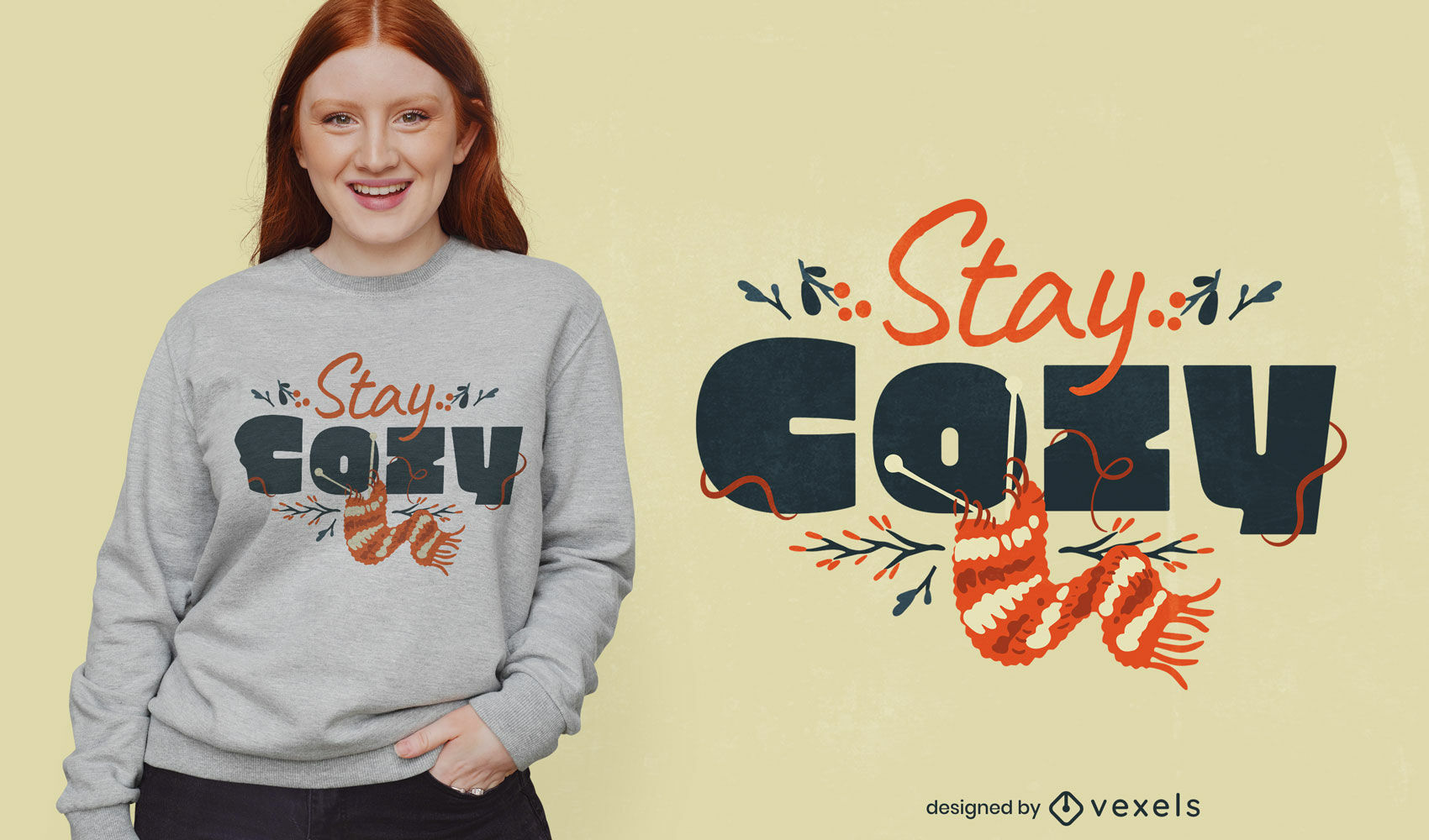 Lovely cozy quote t-shirt design