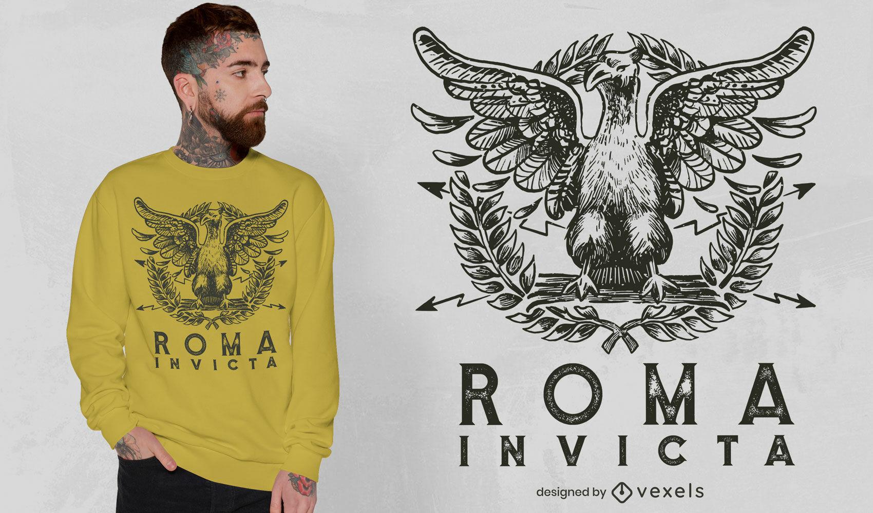 Diseño de camiseta Roma invicta