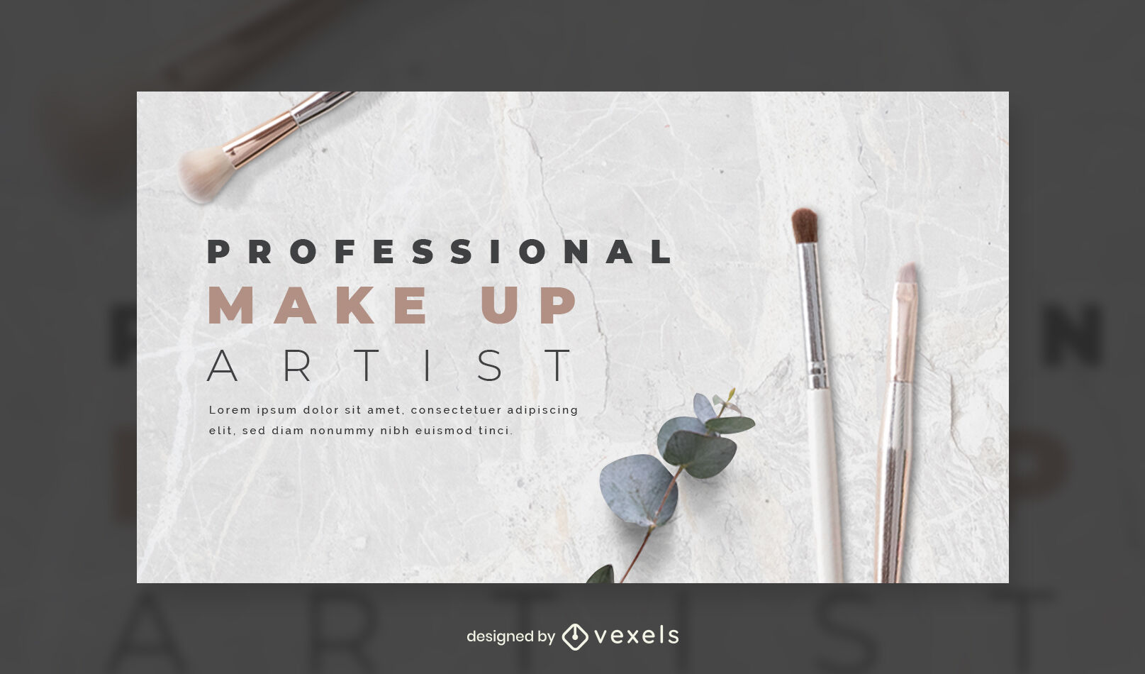 Plantilla de portada de facebook fotográfica de artista de maquillaje