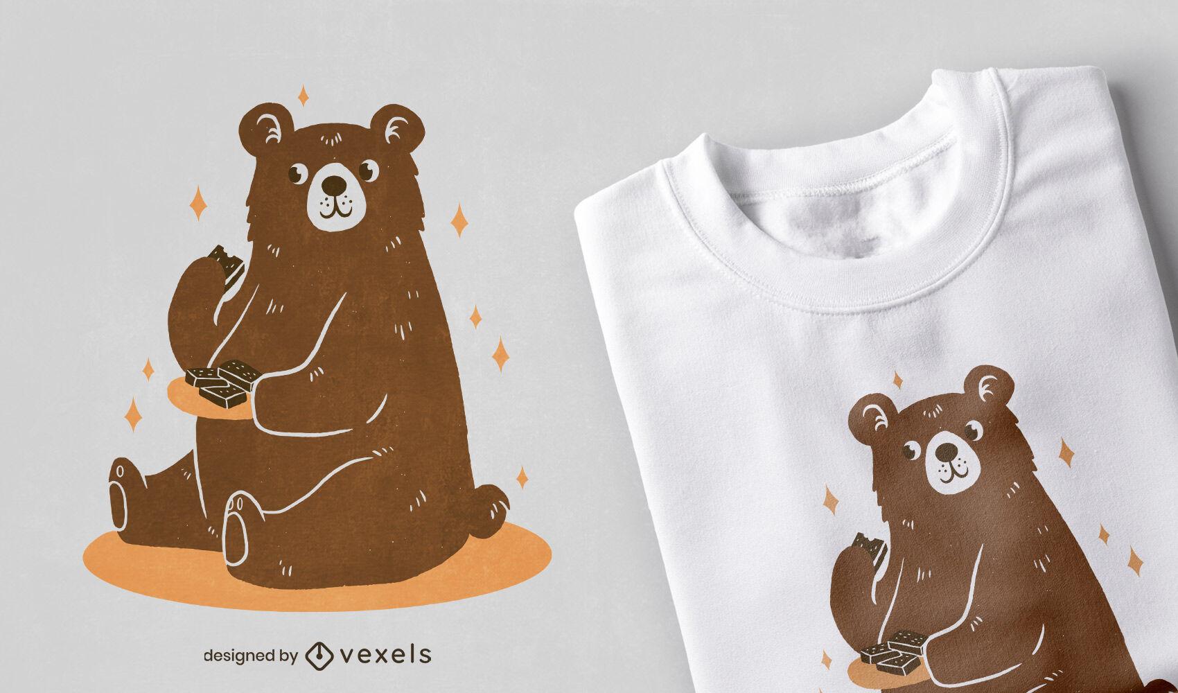 Cute grizzly bear t-shirt design