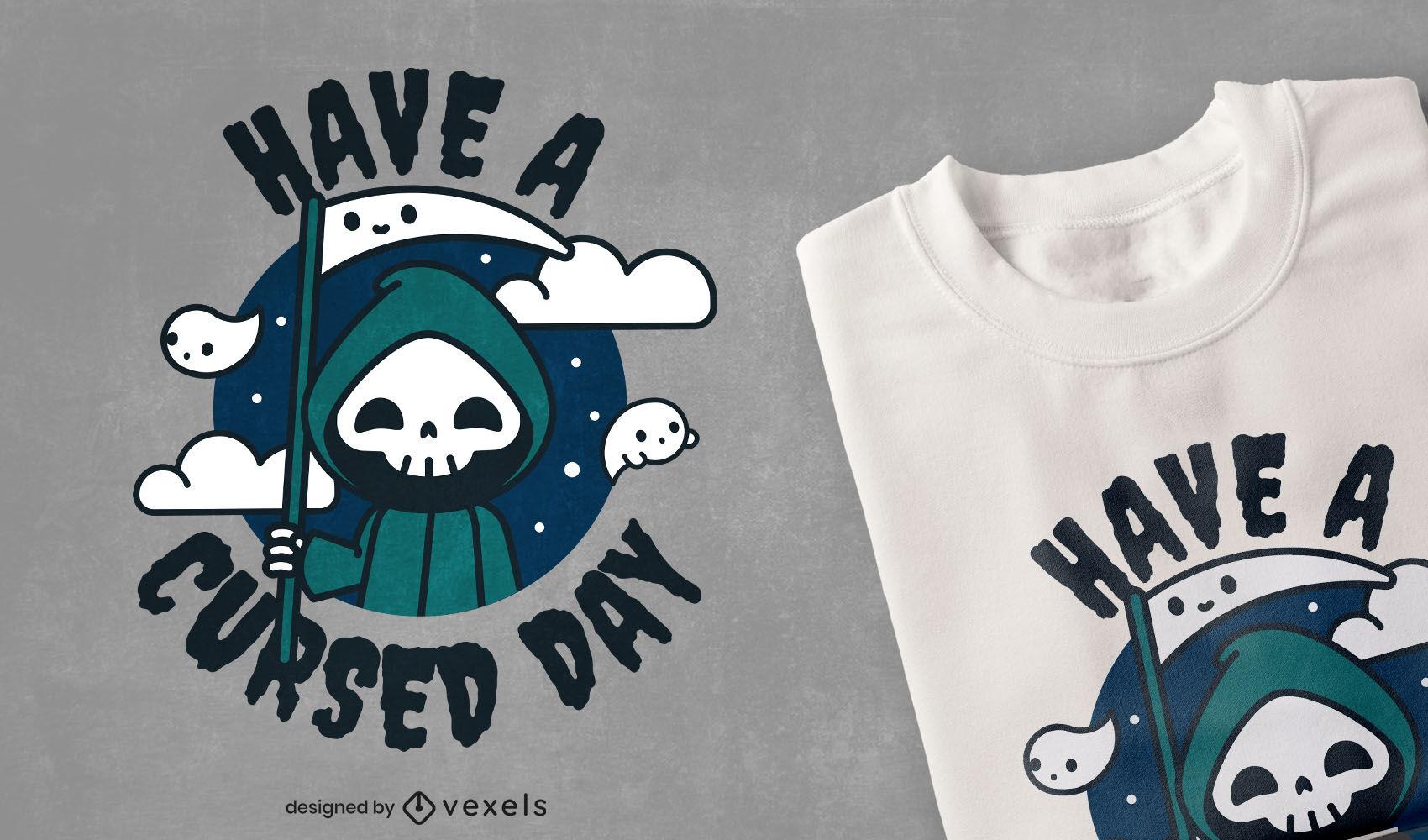 Cute cursed day death t-shirt design