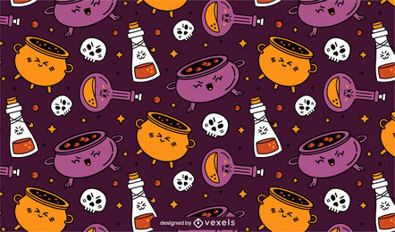 Witch potions cute magic pattern design