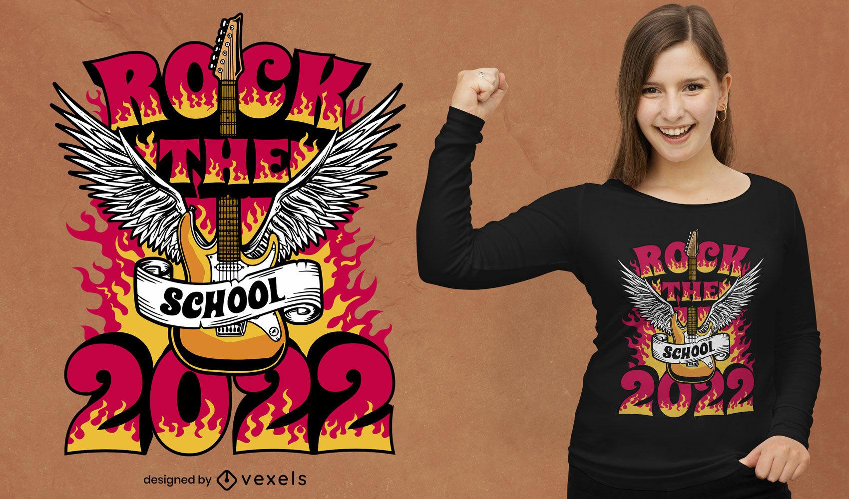 Back to school 2022 rock t-shirt design