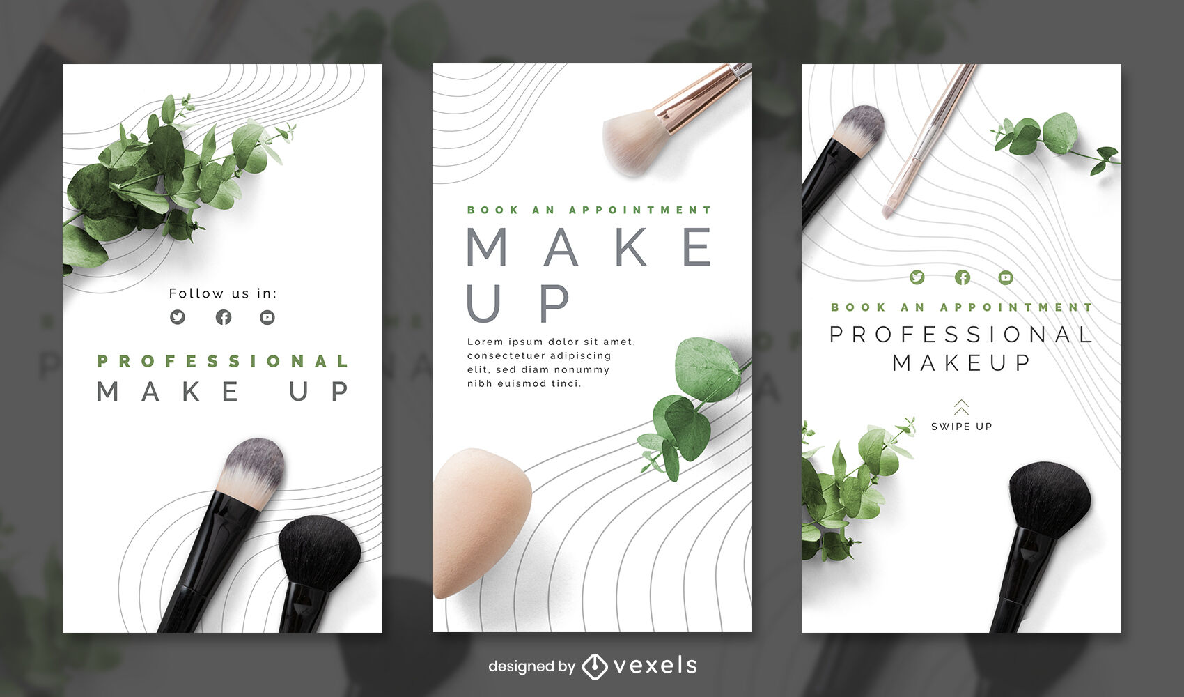 Make up photographic instagram story template