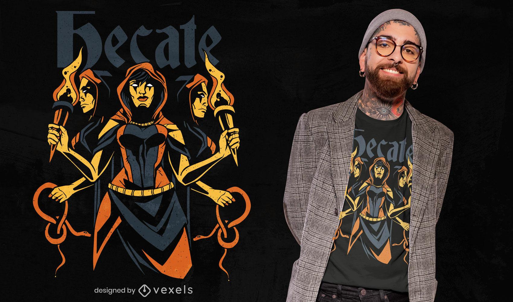 Hecate greek goddess t-shirt design