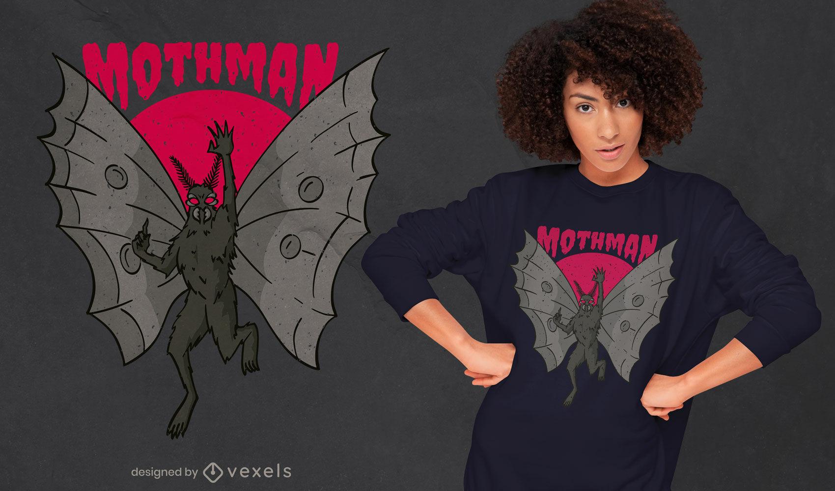 Dise?o de camiseta de ilustraci?n de Mothman