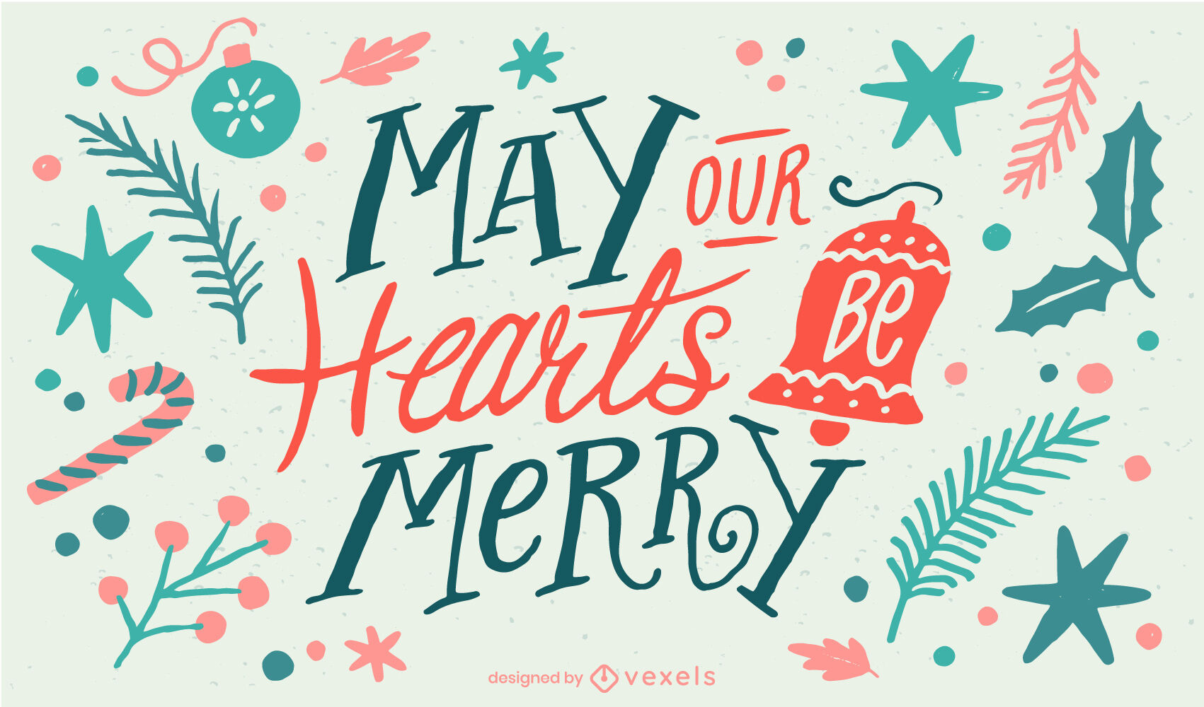 Christmas holiday lettering illustration
