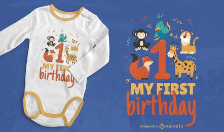 Baby 1st birthday t-shirt design