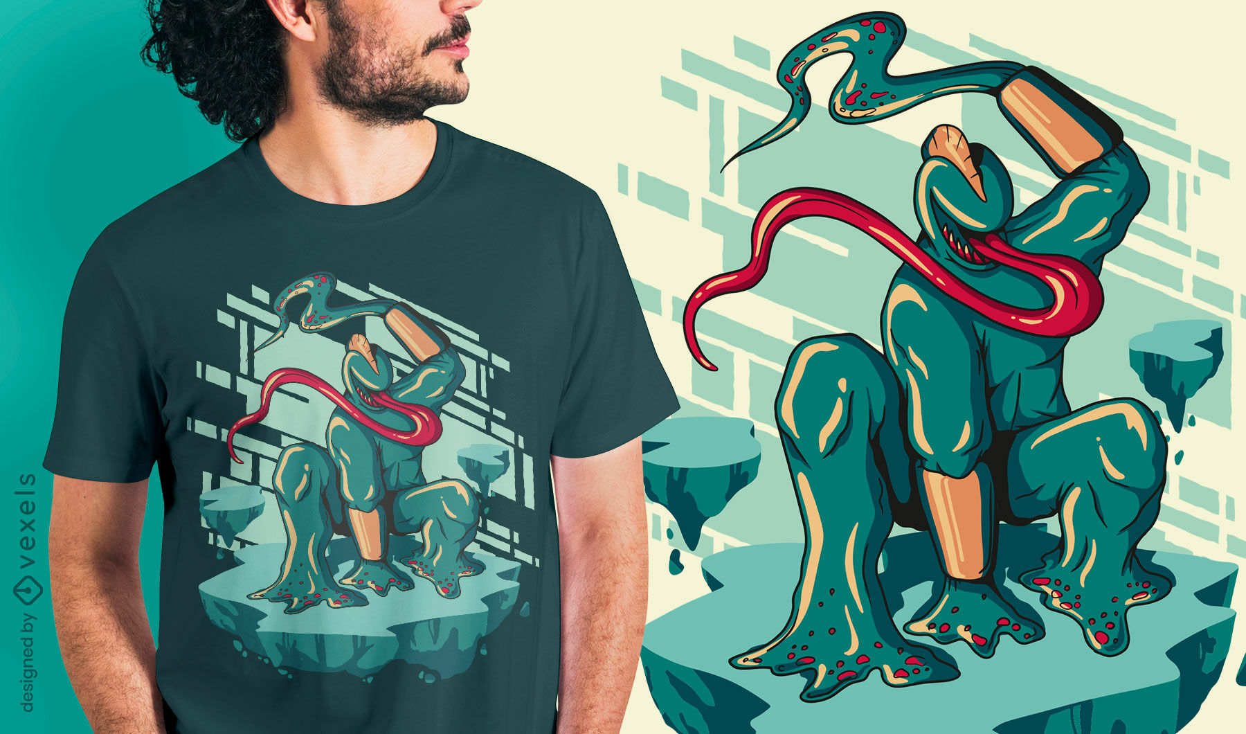 Scary nightmare monster t-shirt design