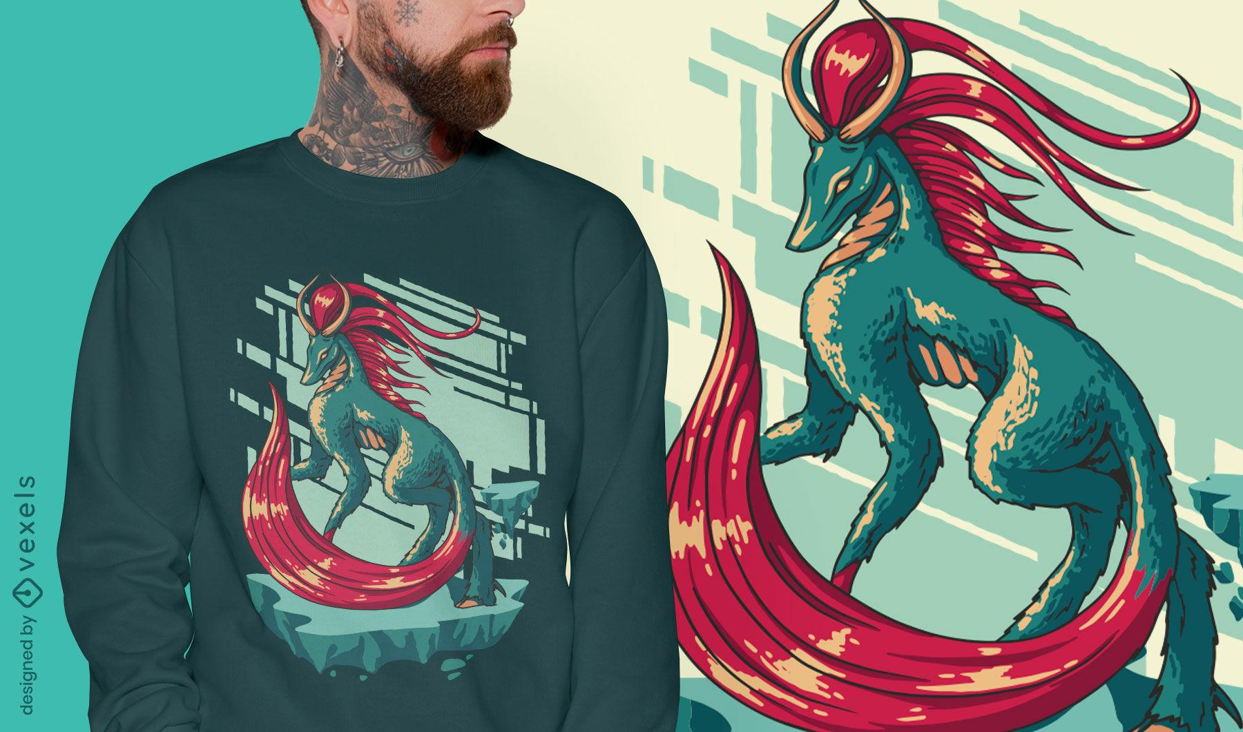 Animal nightmare monster t-shirt design