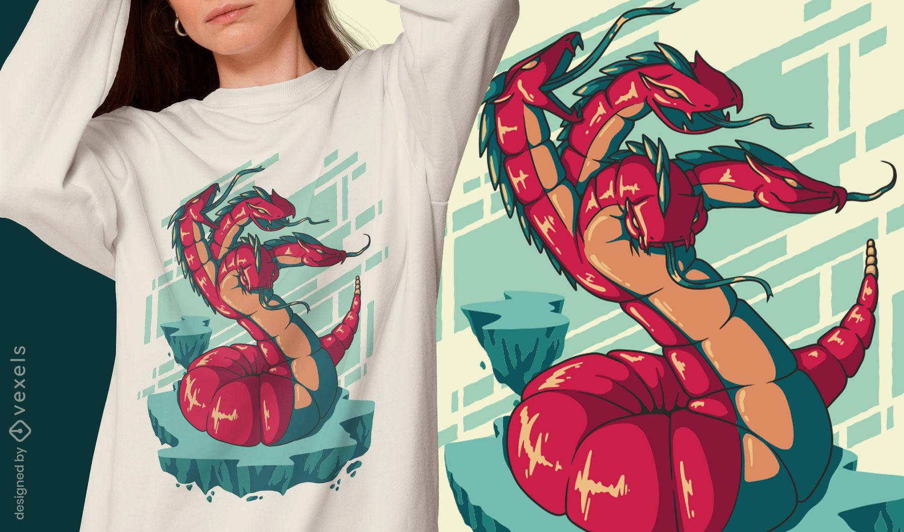 Hydra nightmare monster t-shirt design