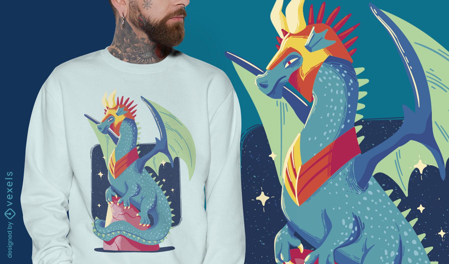 Cool armor dragon t-shirt desgin