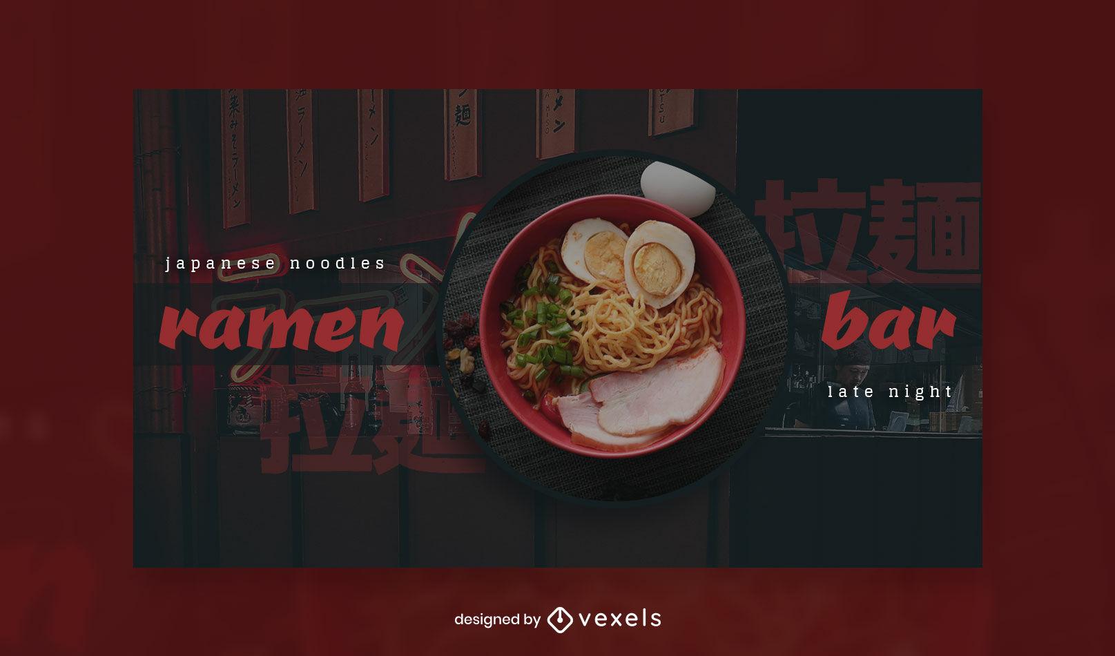 Ramen bar facebook cover template