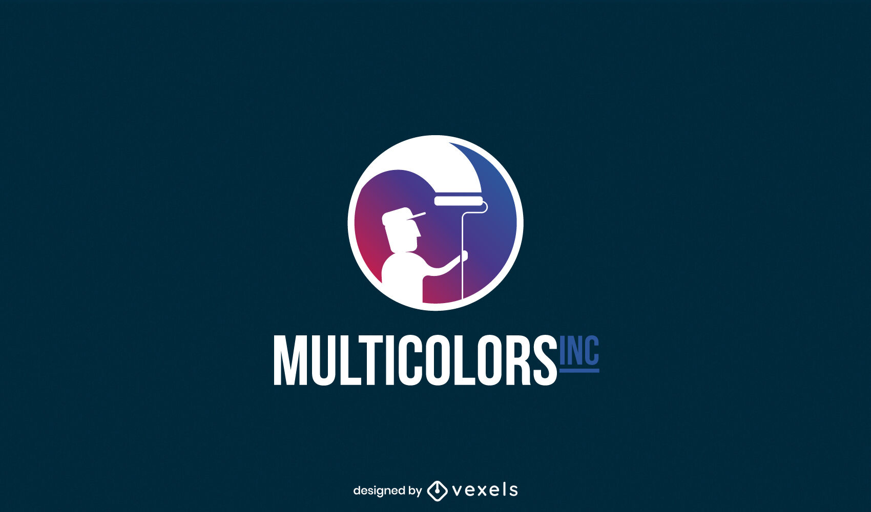 Home painter silhouette logo template