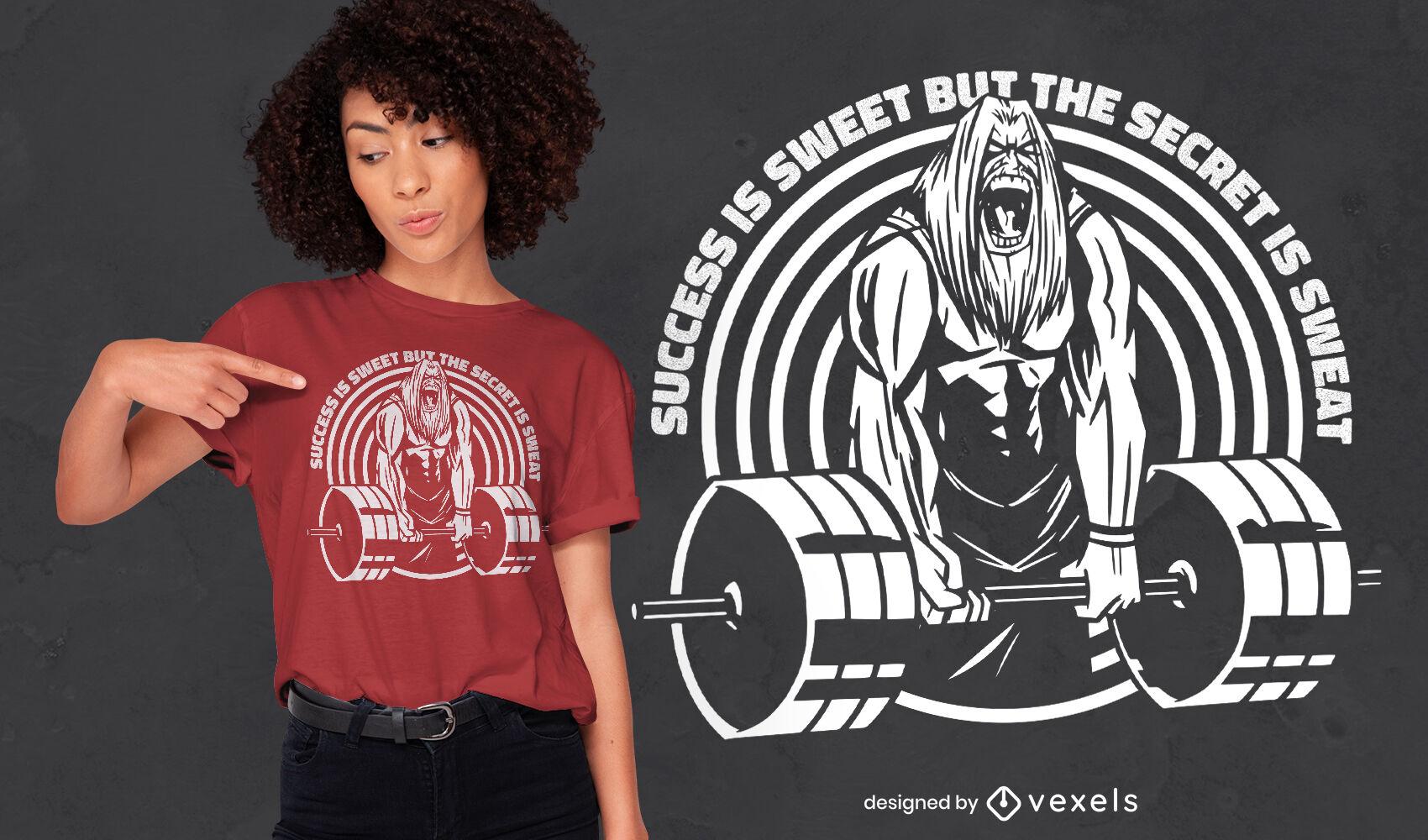 Bodybuilding man t-shirt design