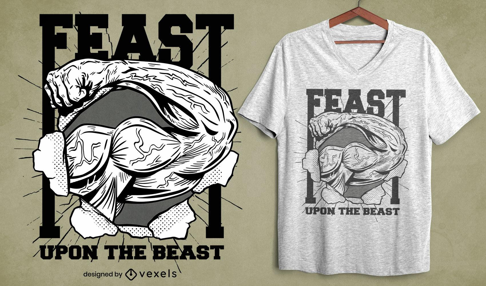 Feast workout t-shirt design