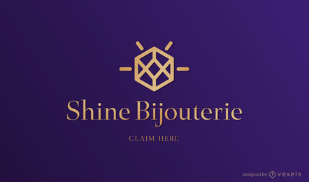 Jewelry diamond business logo template