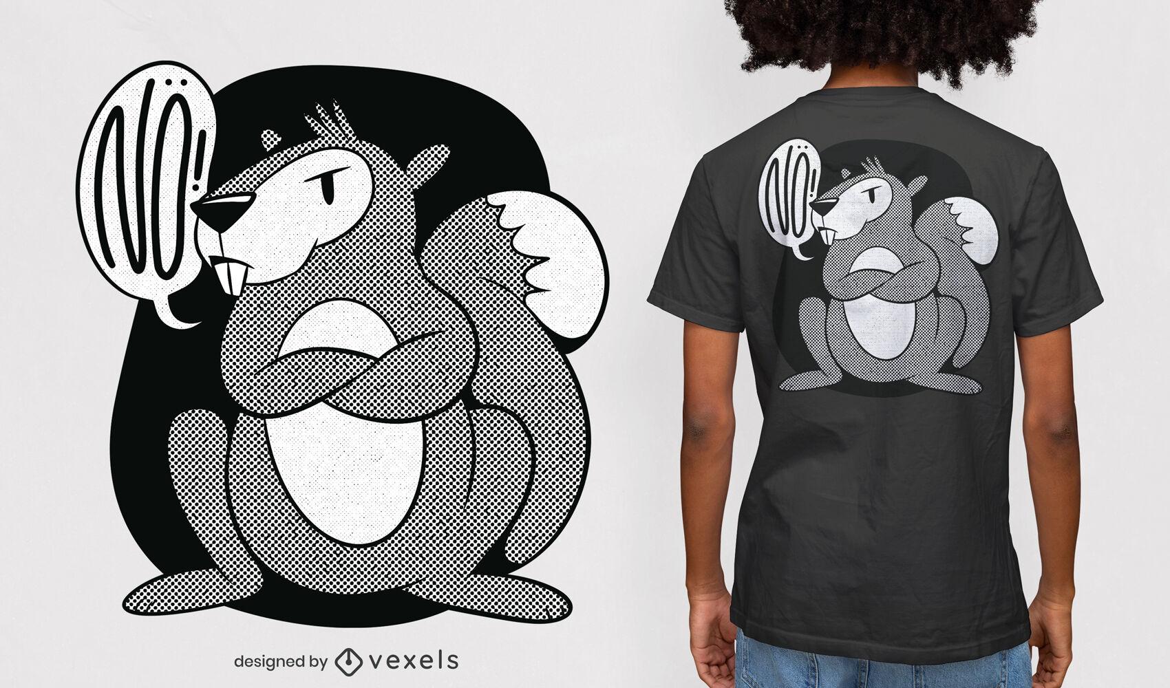 Grumpy squirrel t-shirt design