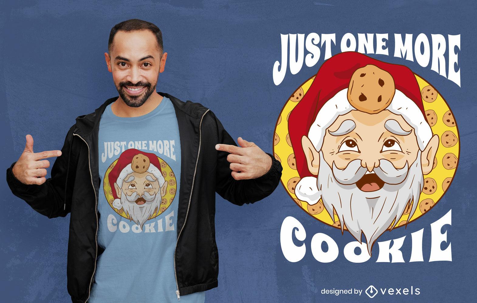 Santa claus and cookies t-shirt design