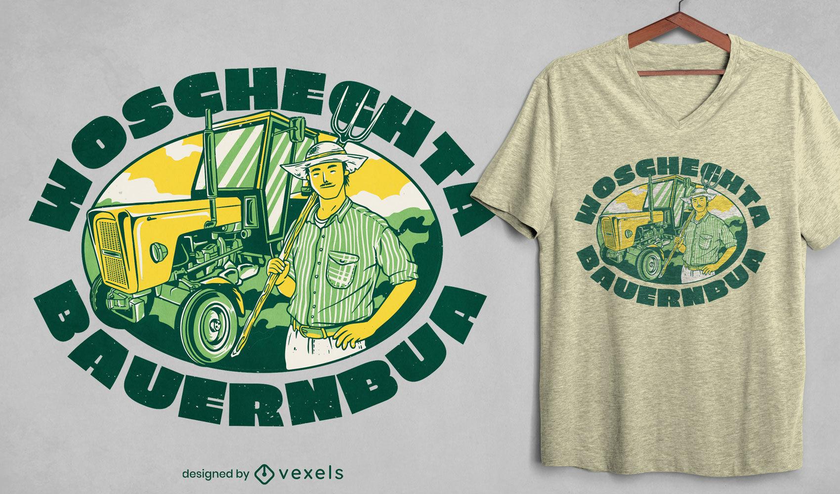 Diseño de camiseta de granjero genial
