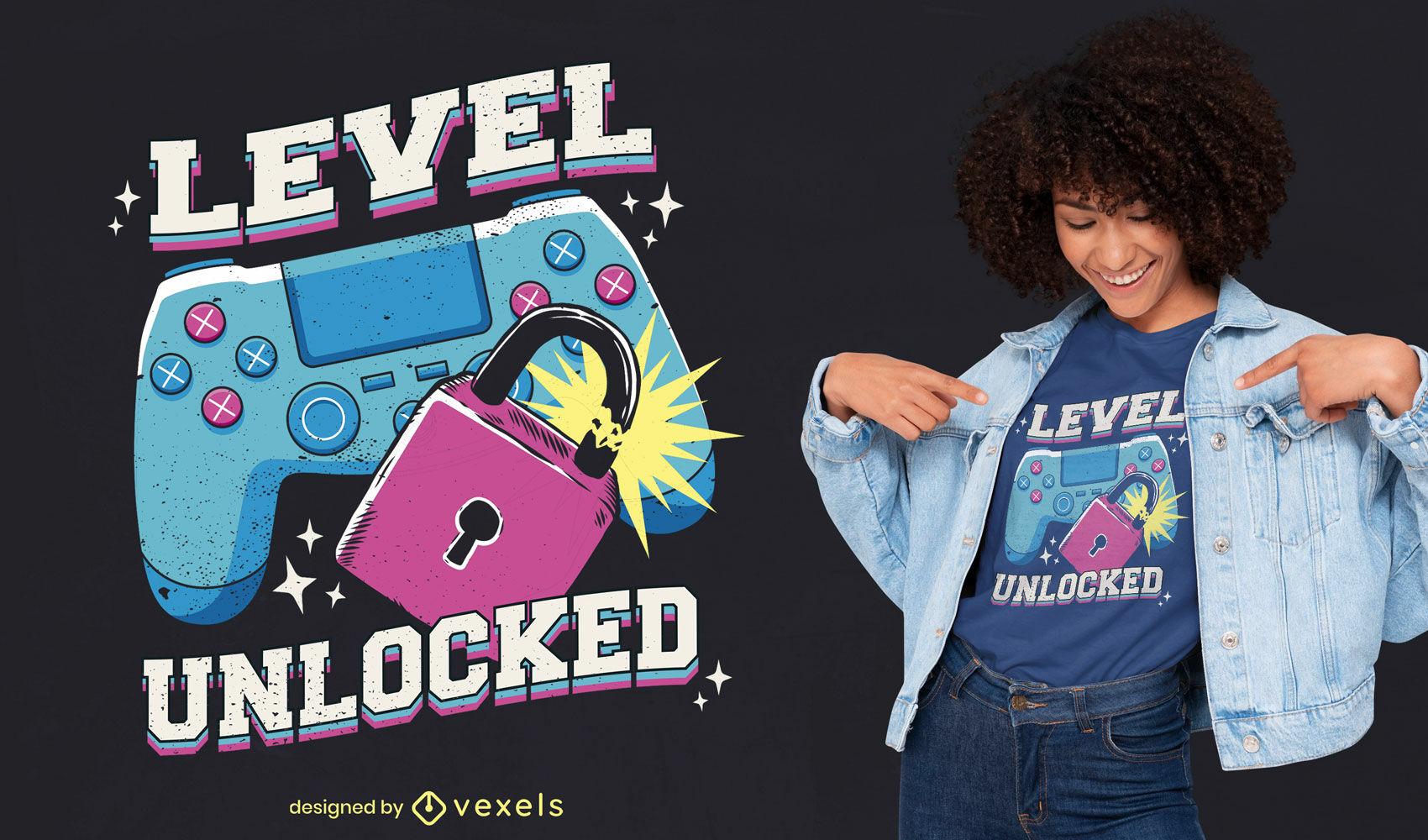 Retro joystick gamer t-shirt design