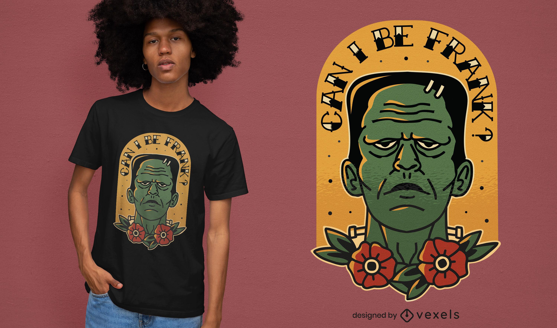 Spooky Frankenstain's monster t-shirt design