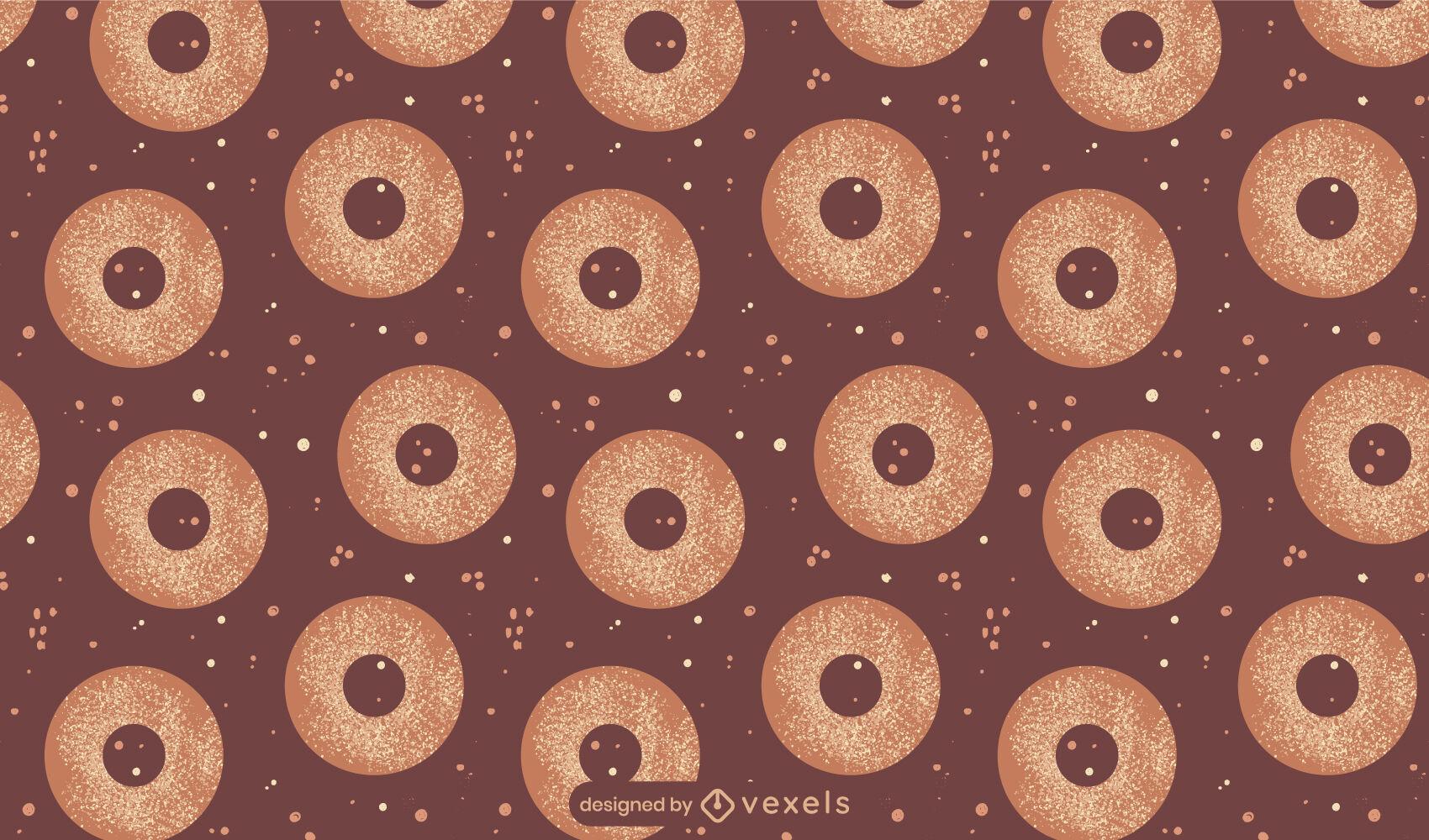 Design de padrão de alimentos doces rosquinhas vitrificadas