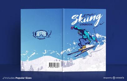 Skiing athlete sport book cover design