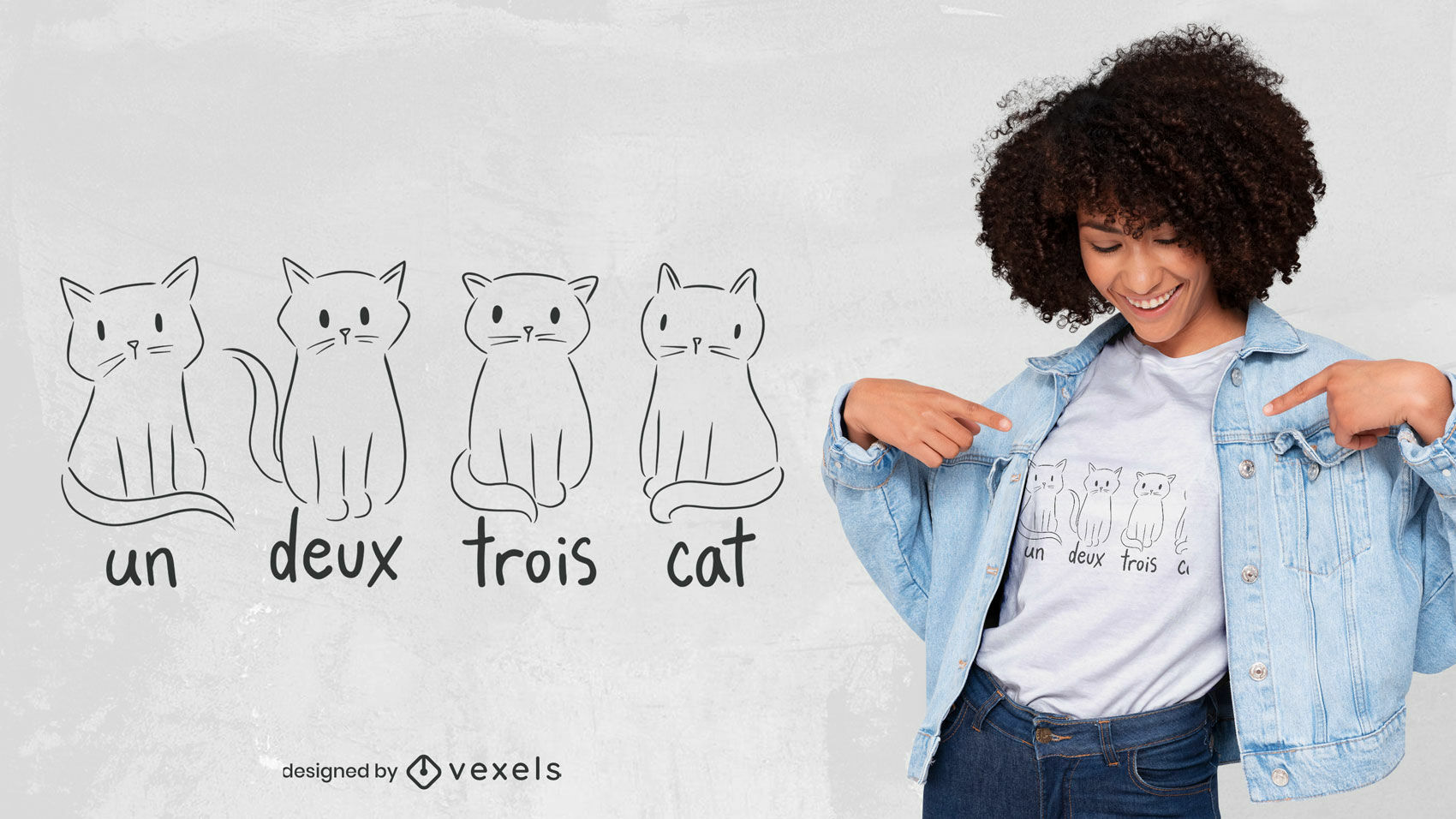 Cute French cats t-shirt design