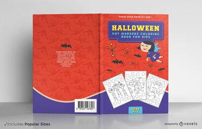Child vampire halloween book cover design
