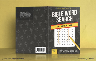 Spanish bible word search book cover design