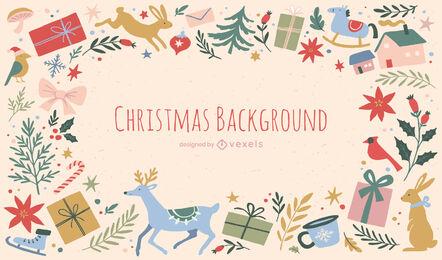 Christmas presents background design