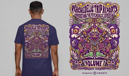 T-Shirt-Design mit psychedelischer Reiseerfahrung