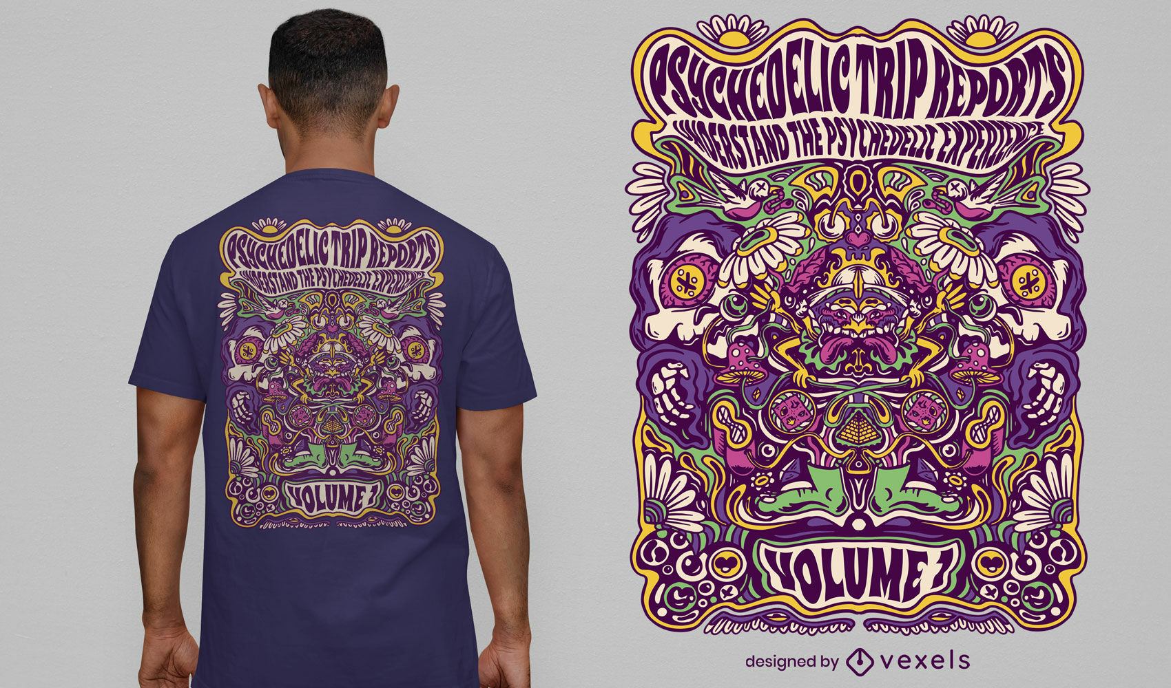 Psychedelic trip experience t-shirt design