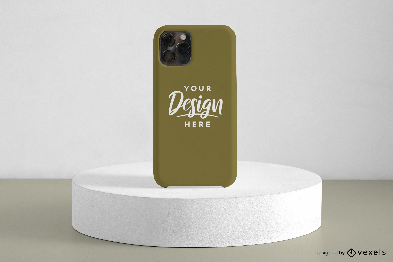 Green phone case mockup display