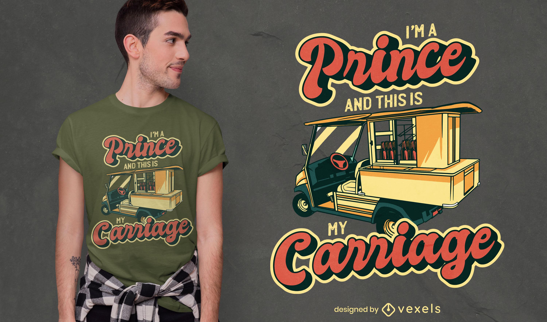 Funny golfing prince t-shirt design